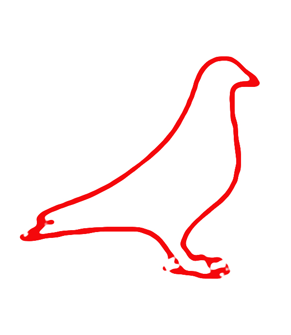 鸽子黑白矢量图